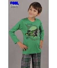 Vienetta Secret Dětské pyžamo dlouhé Formule 1 - tmavě zelená