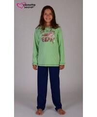 Vienetta Kids Dětské pyžamo dlouhé Bear - zelená