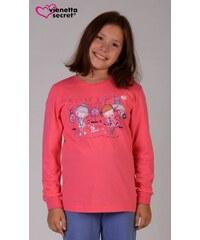 Vienetta Kids Dětské pyžamo dlouhé Dívky ve městě - lososová