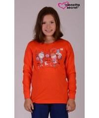 Vienetta Kids Dětské pyžamo dlouhé Dívky ve městě - jahodová
