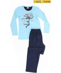 Vienetta Kids Dětské pyžamo dlouhé Fotbal - tyrkysová