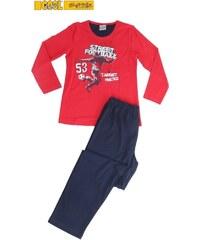 Vienetta Kids Dětské pyžamo dlouhé Fotbal - jahodová