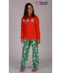 Vienetta Kids Dětské pyžamo dlouhé Malí medvědi - jahodová