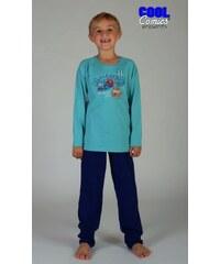 Cool Comics Dětské pyžamo dlouhé Malý tygr - tyrkysová