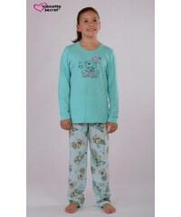 Vienetta Kids Dětské pyžamo dlouhé Medvěd Gift - azurová