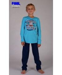 Cool Comics Dětské pyžamo dlouhé Nosorožec - tyrkysová