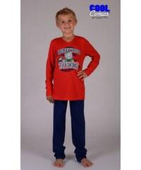 Cool Comics Dětské pyžamo dlouhé Nosorožec - červená