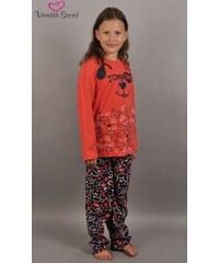 Vienetta Secret Dětské pyžamo dlouhé Pes - korálová