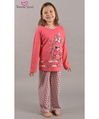 Vienetta Kids Dětské pyžamo dlouhé Pes v šatech - lososová