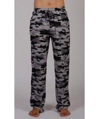 Gazzaz Pánské pyžamové kalhoty Army - šedá
