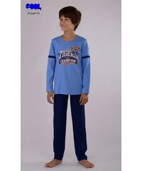 Cool Comics Dětské pyžamo dlouhé Tygr - modrá