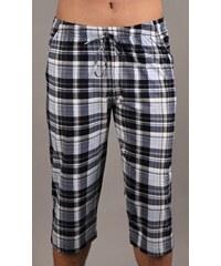 Gazzaz Pánské pyžamové kapri kalhoty Ondřej - černomodrá kostka