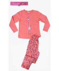Vienetta Kids Dětské pyžamo dlouhé Žirafa Long - lososová