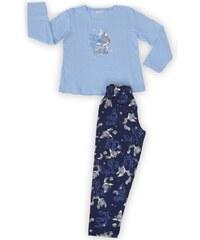 Vienetta Kids Dětské pyžamo dlouhé Liška a měsíc - modrá