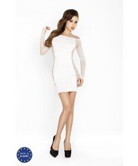 PASSION Erotické šaty PASSION BS025 bílé