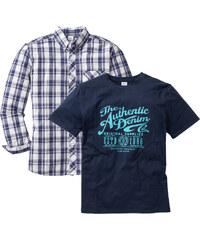 John Baner JEANSWEAR Chemise + T-shirt Regular Fit (Ens. 2 pces.) bleu homme - bonprix