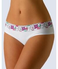 GINA GINA-14095P-WHITE: Dámské bavlněné kalhotky GINA 14095