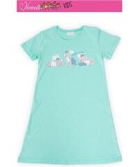 Vienetta Kids Dětská noční košile s krátkým rukávem Malé ovce - zelená