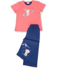 Vienetta Secret Dětské pyžamo kapri Myšák - lososová