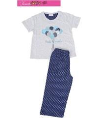 Vienetta Kids Dětské pyžamo kapri Balónky - šedá/modrá