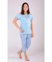 Vienetta Kids Dětské pyžamo kapri Jezevčík - modrá