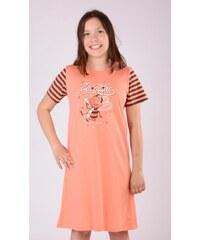 Vienetta Secret Dětská noční košile s krátkým rukávem Včela - meruňková
