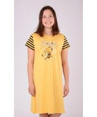 Vienetta Secret Dětská noční košile s krátkým rukávem Včela - žlutá