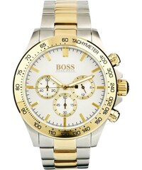 BOSS By Hugo Boss - 1512960 - Montre chronographe en acier inoxydable avec détails dorés - Argenté