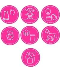 Mamiee Samolepky na hračky pro holky růžové - set 7 ks