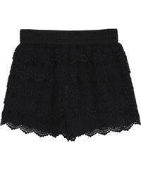 Lesara Shorts mit Spitze - Schwarz - S