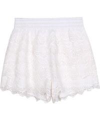 Lesara Shorts mit Spitze - Weiß - S