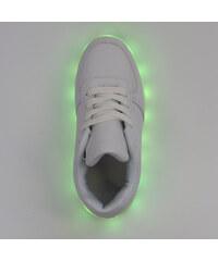 Lesara Kinder-LED-Schuh in Leder-Optik - Weiß - 25