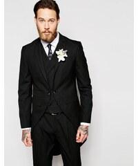 ASOS Wedding - Veste de costume skinny avec queue de pie pour la cérémonie du matin - Noir - Noir