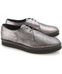 Chaussures à lacets Tod's femme en cuir argent