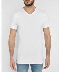 LACOSTE UNDERWEAR Doppelpack T-Shirts Slim Fit in Weiß mit V-Ausschnitt