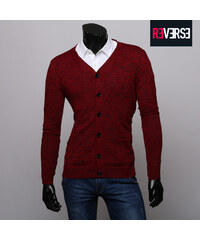Re-Verse Strick-Cardigan in melierter Optik - S