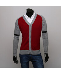 Re-Verse Strick-Cardigan im Farbblock-Design - Rot - S