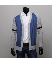Re-Verse Strick-Cardigan im Farbblock-Design - Blau - S