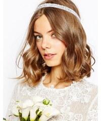 ASOS - Bridal - Haarband mit Blume & Kunstperlen - Cremeweiß