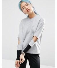 ASOS WHITE - Pullover mit Zierausschnitten - Grau