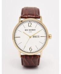Ben Sherman - Portobello - Montre bracelet en cuir - Marron - Marron