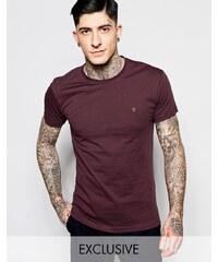Farah -T-shirt slim avec logo F en exclusivité - Bordeaux - Rouge