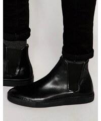 Hudson London - Chelsea-Sneaker aus Leder - Schwarz