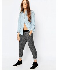 Pull&Bear Contrast Waist Track Pants - Gris