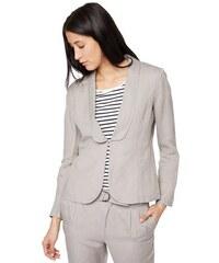 Damen Blazer dyed linen mix blazer Tom Tailor grau 36,38,40,42,44