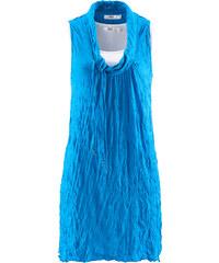 bpc bonprix collection Tunika-Top mit Crash-Effekt (2-tlg.) ohne Ärmel in blau für Damen von bonprix