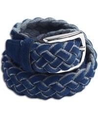 Cavalier Bleu Ceinture en laine et daim