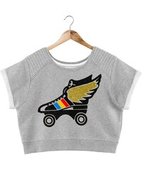 French Disorder Fly roller - Sweat-shirt - gris chine