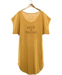 French Disorder Baisers et coquillages - Robe de plage - bronze