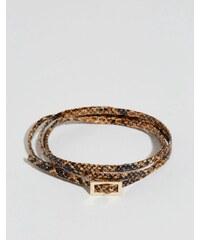 ASOS - Bracelet double tour effet serpent - Fauve